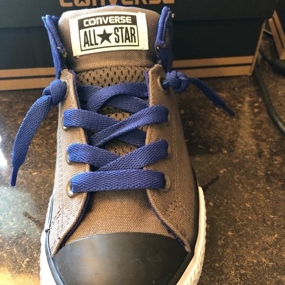 8f9d7daafd7 Converse Boys CT Axel Mid Top Charcoal black blue